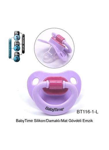 BabyTime Babytime Silikon Damaklı Mat Gövdeli Emzik Pembe